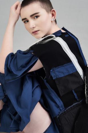 Image Credits: Designer: Kim Marshall Photographer:Catherine Dineley  Stylist:Rachel Heeley MUA:Meg Plummer Model: Jalen Taylor