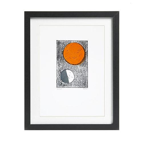 A4 'Solar' Lino Print
