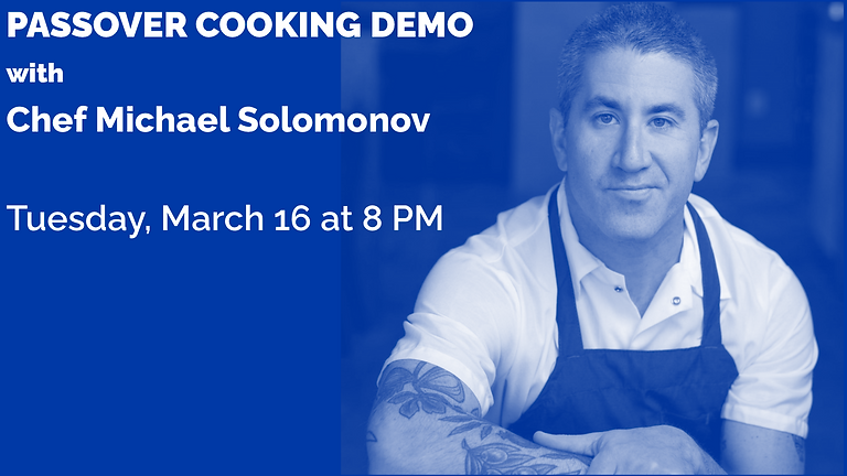 Passover Cooking Demo with Chef Michael Solomonov
