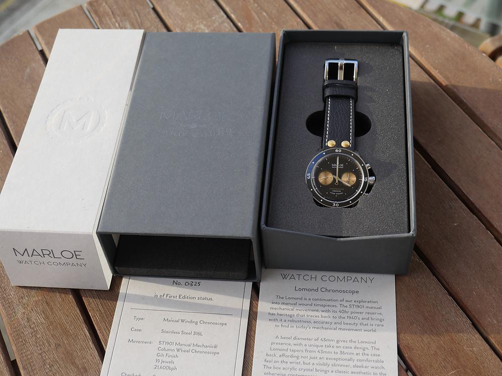 Marloe Lomond Chronoscope Packaging