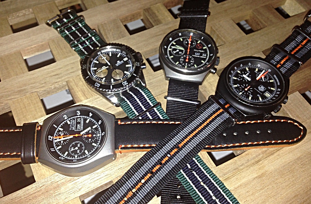 A family of lemania 5100 powered watches