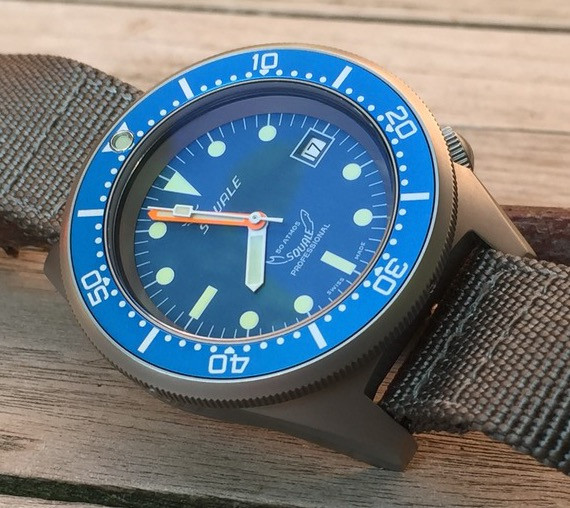 Squale 1521 Satinato Blue