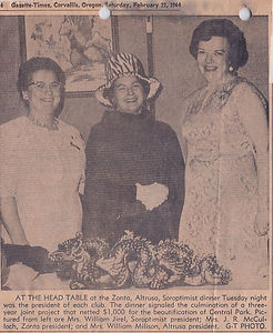 1964 ZAS Banquet honoring Beautification