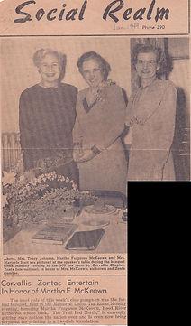 1949 Article re author, Leone Johnson &