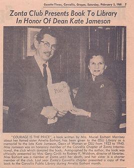 1968 article, Honorary member Kate James