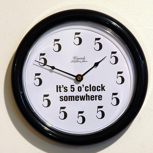 """5 O'Clock Somewhere"" Clock - Clocks"