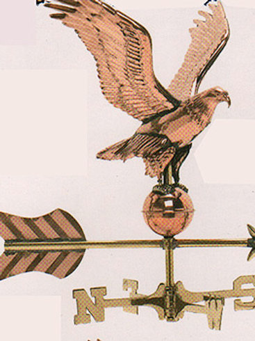 Cottage Style Polished Copper Eagle - Weathervanes