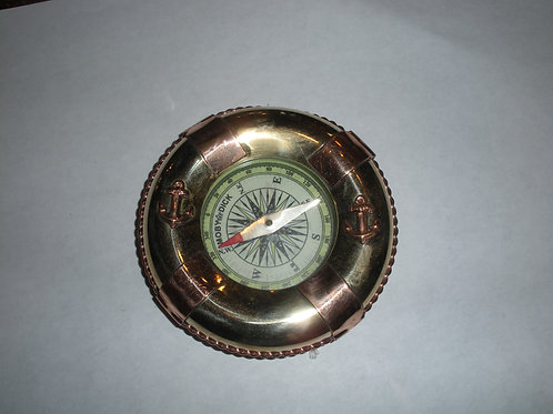 Brass and Copper Life Ring Compass - Compasses