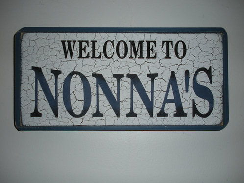 Welcome to Nonna's - Wooden Signs