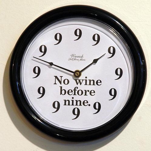 """No Wine Before Nine"" Clock - Clocks"