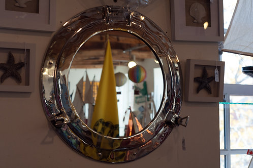 """9"""" Brass Porthole Mirror - Portholes"""