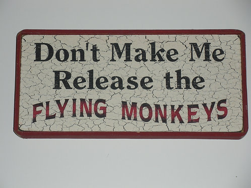 Flying Monkeys (Red) - Wooden Signs