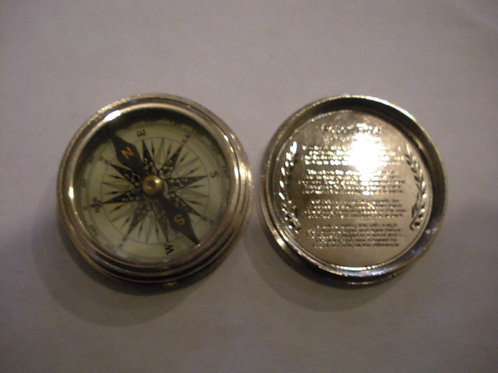 Nickel Robert Frost Compass - Compasses