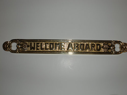 Nautical Brass WELCOME ABOARD - Brass Item