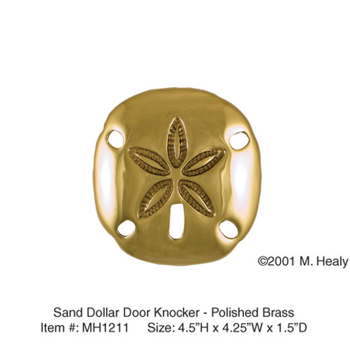 Sand Dollar (Brass) - Door Knockers