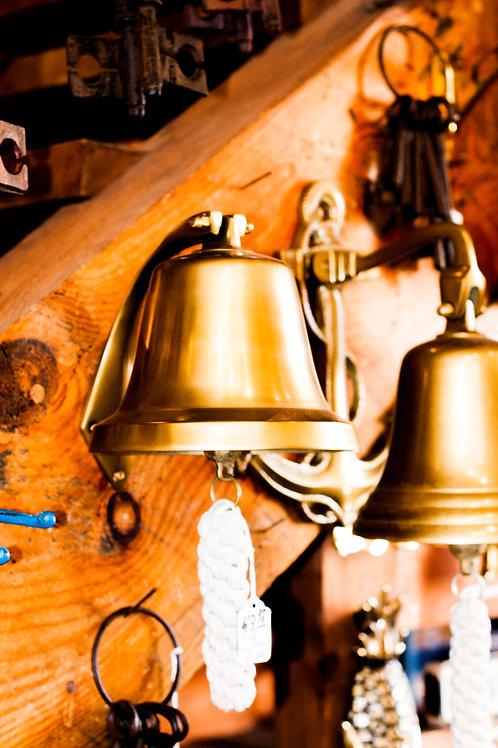 """Hanging Bell - 6"""" Brass Bell"""