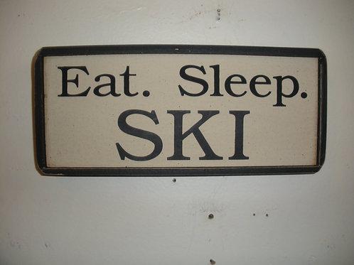 Eat. Sleep. SKI - Wooden Signs