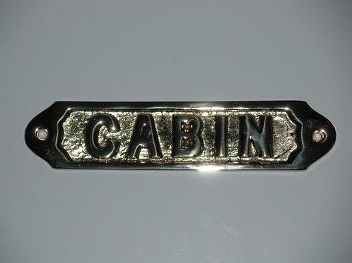 Nautical Brass Cabin Plaque- Brass Item