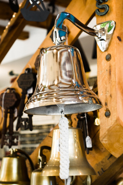 "Hanging Bell -  10"" Nickel"