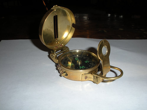 Brass WWII Style Compass - Compasses
