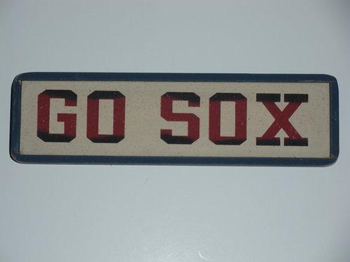 GO SOX - Wooden Signs
