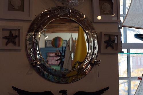 "20"" Nickel Porthole Mirror - Portholes"