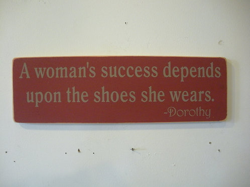 A Woman's Success... - Wooden Signs