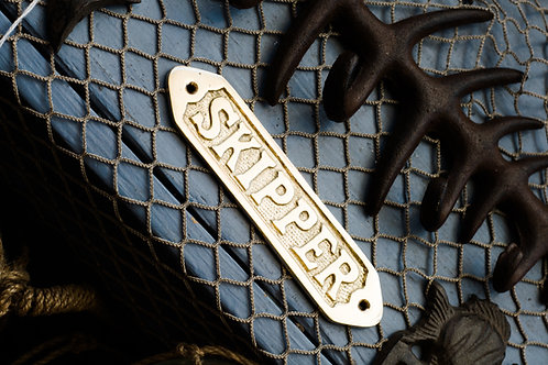 Nautical Brass SKIPPER - Brass Item