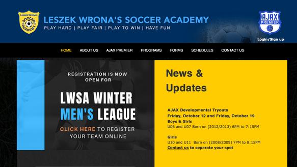 Client: Leszek Wrona's Soccer Academy, AJAX Premier