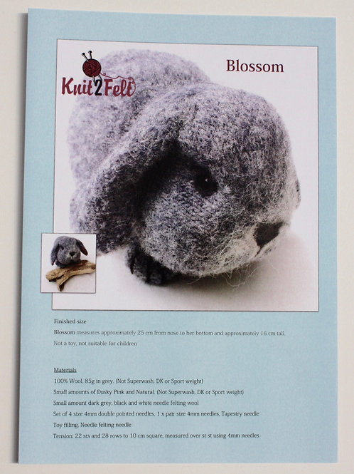 Blossom Knitting and Felting Pattern