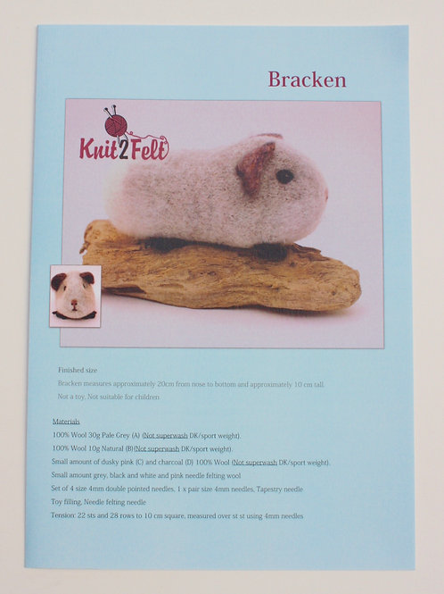 Bracken Knitting and Felting Pattern