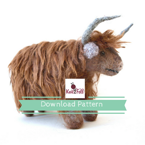 Fennel the Highland Cow Digital Download Pattern