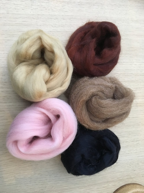 20g Merino wool top