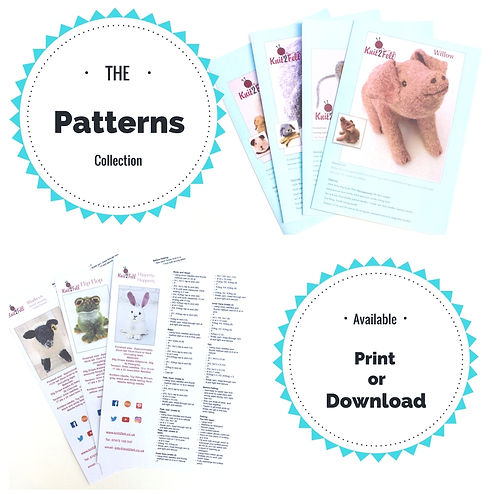 Knitting and felting patterns by Knit2Felt UK