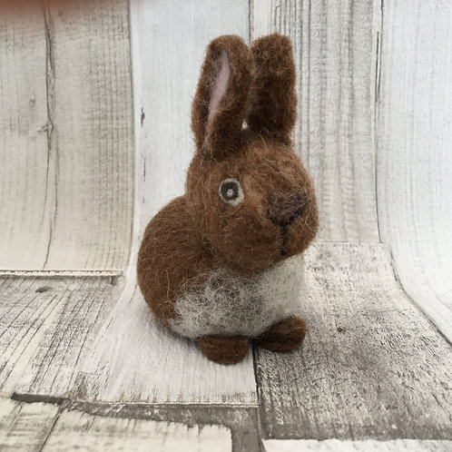 "Beginners ""pebble""Needle Felting Kit - Rabbit"