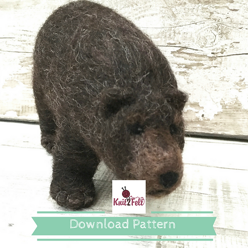 Franklin the Grizzly Bear Digital Download pattern