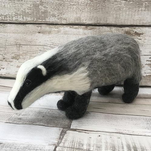 Humbug the Badger Knitting and Felting Kit
