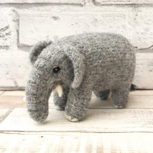 "Juniper ""Mini Make"" Elephant Knitting and Felting Kit"