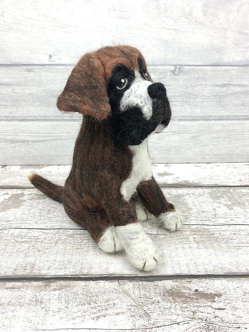 Buddy the Boxer Dog Knitting and Felting Kit
