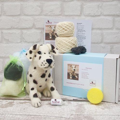 Domino the Dalmatian Knitting and Felting Kit