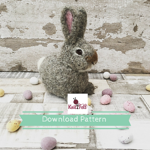 Bluebell the wild rabbit (Mini Make) Digital Download Pattern