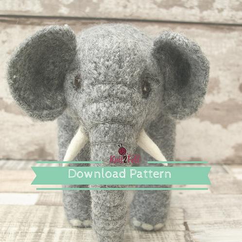 Jasmine (Large elephant) Digital Download Pattern