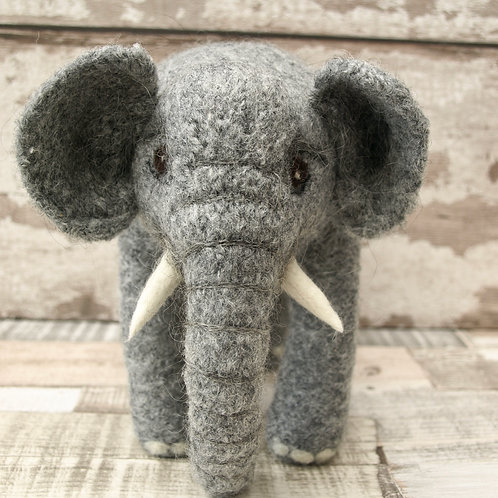 Jasmine Large Elephant Knitting and Felting Kit
