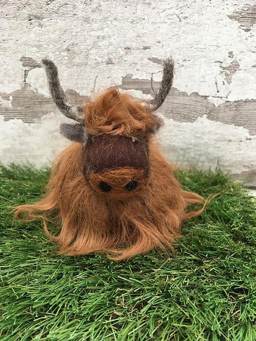 Beginners Needle Felting Kit - Highland Cow