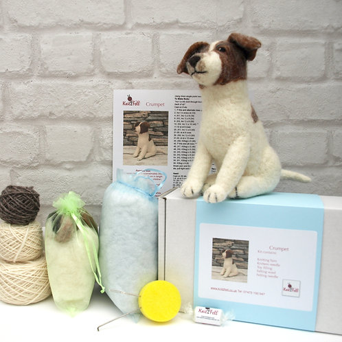 Crumpet the Jack Russell Knitting and Felting Kit