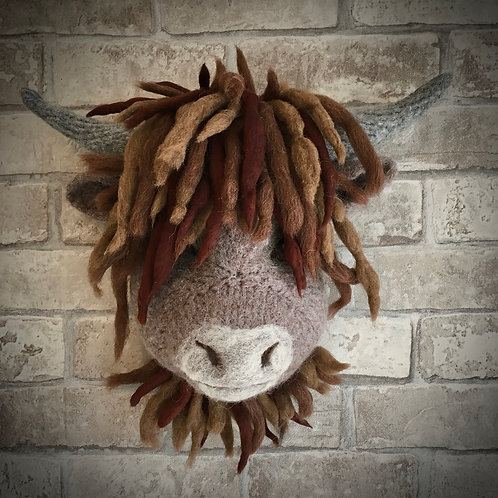 Fergus the Highland cow wall hanging Digital Download Pattern