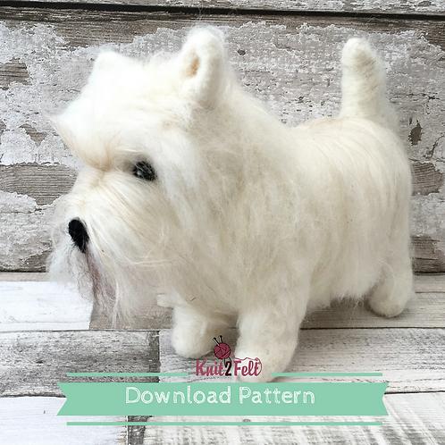 Hamish the West Highland Terrier Digital Download Pattern