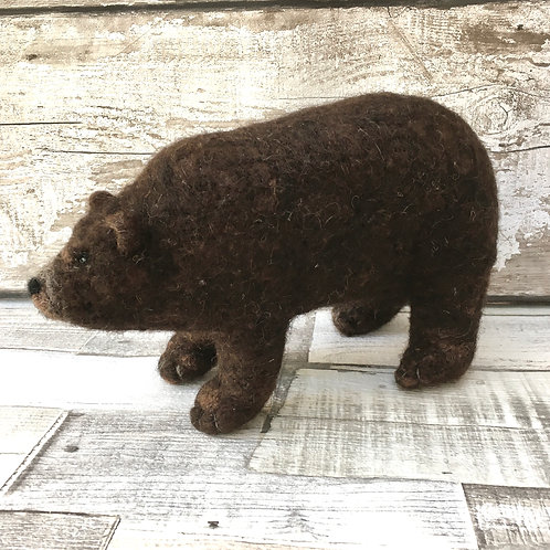 Grizzly Bear Knitting and Felting Kit