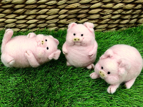 Needle Felting Three Little Pigs The Threadmill Hayfield