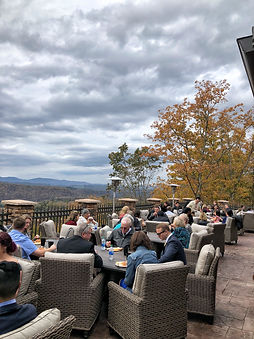 Social gathering overtop the mountains